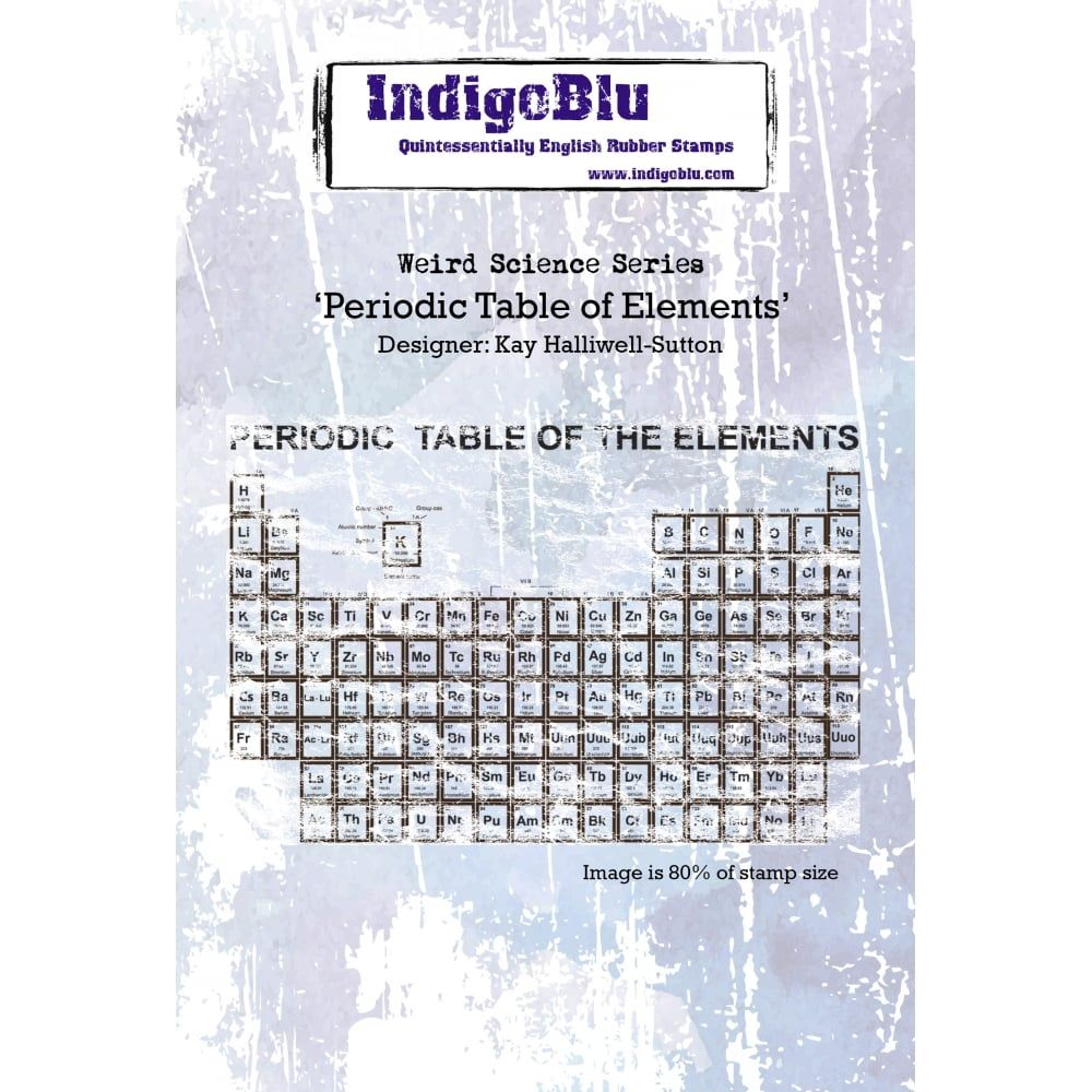 Indigoblu rubber stamp periodic table of elements urtaz