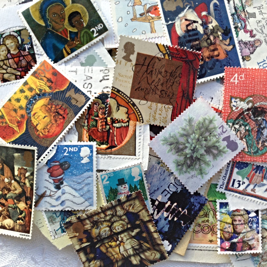 30 Assorted Christmas Postage Stamps