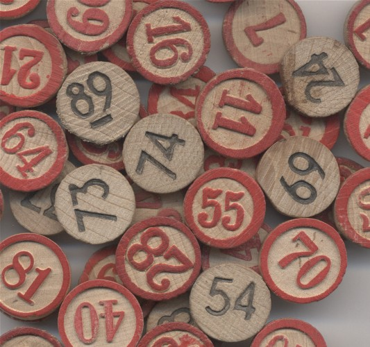 5 Wooden Bingo Numbers