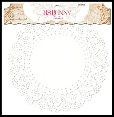 Bo Bunny Doilies Medium 6.5