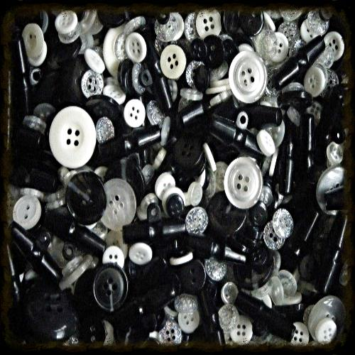 Button Assortment Monochrome