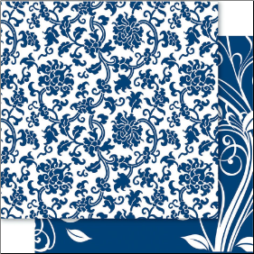 China Blue 12x12 Cardstock Blue Arden