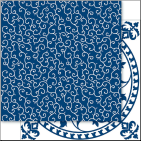 China Blue 12x12 Cardstock Blue Felicity