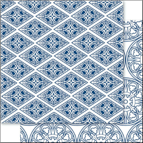 China Blue 12x12 Cardstock Dynasty