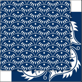 China Blue 12x12 Cardstock New Wave