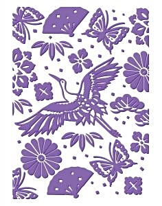 Couture Creations Embossing Folder Oriental Garden