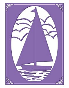 Couture Creations Embossing Folder Sail Away