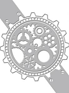 Couture Creations Embossing Folder Timepiece