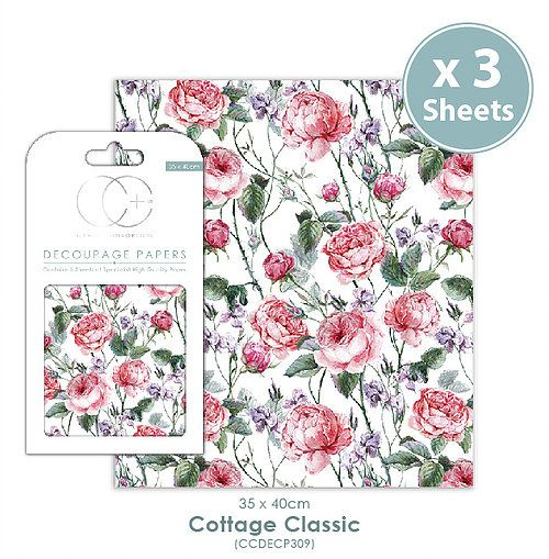 Craft Consortium Decoupage Papers Cottage Classic