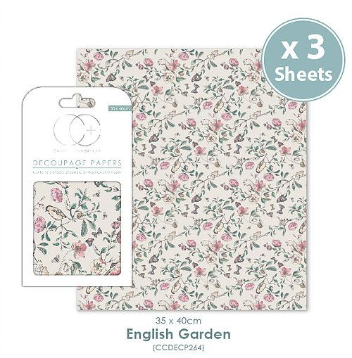 Craft Consortium Decoupage Papers English Garden