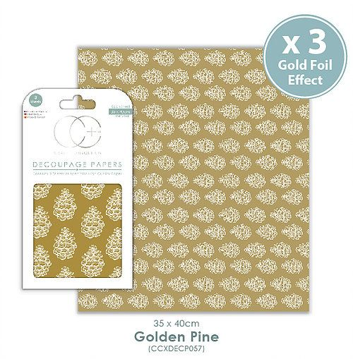 Craft Consortium Decoupage Papers Golden Pine