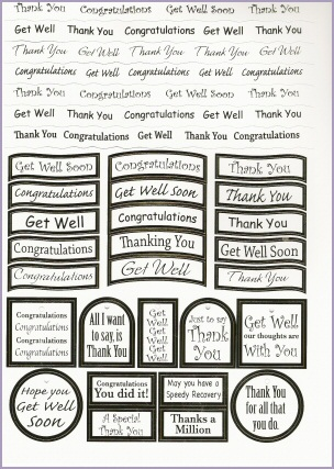 Craft UK Die-cut Greetings - General - Silver