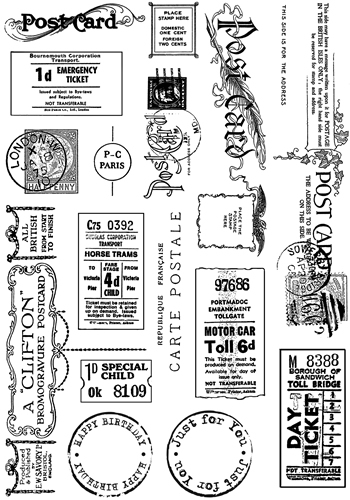 Crafty Individuals Rubber Stamp 307