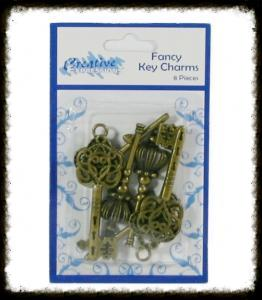 Creative Expressions Fancy Key Charms