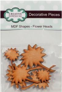 Creative Expressions MDF Shapes Floral Heads