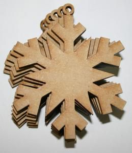 Creative Expressions MDF Small Snowflakes