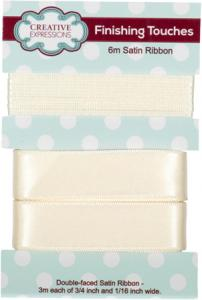 Creative Expressions Satin Ribbon Antique White