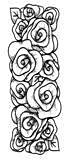 Creative Expressions Singles Rubber Stamp Rose Striplet