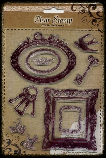Exchangeable Clear Stamp Set Frames & Birds