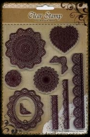 Exchangeable Clear Stamp Set Lace Frames & Borders