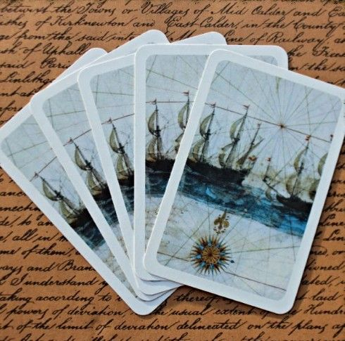 Explorer Galleon - 5  Playing Cards