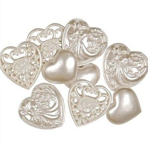 Favourite Findings Buttons Victorian Hearts