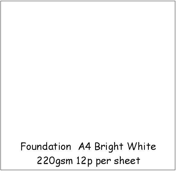 Foundation A4 Bright White 220gsm Card