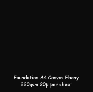 Foundation A4 Canvas Ebony 240gsm Card
