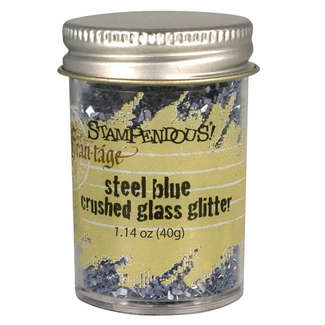 Frantage Crushed Glass Glitter Steel Blue