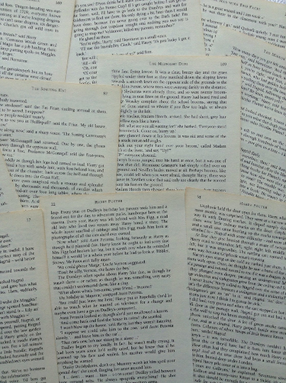 Harry Potter - 10 Assorted  Book Pages