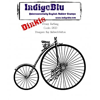 IndigoBlu Dinkie Rubber Stamp Penny Farthing