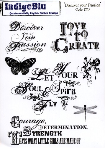 IndigoBlu Rubber Stamp Plate Discover Your Passion