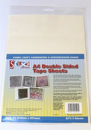 Stix-2 A4 Double Sided Tape Sheets