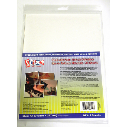 Stix-2 A4 Iron on Adhesive - Delicate Materials