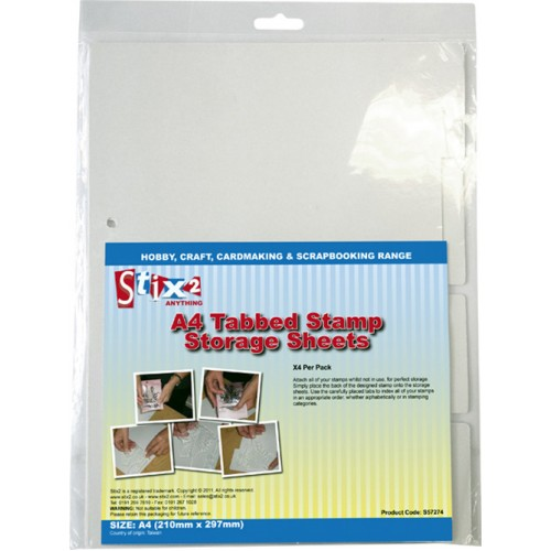 Stix-2 A4 Tabbed Stamp Storage Sheet