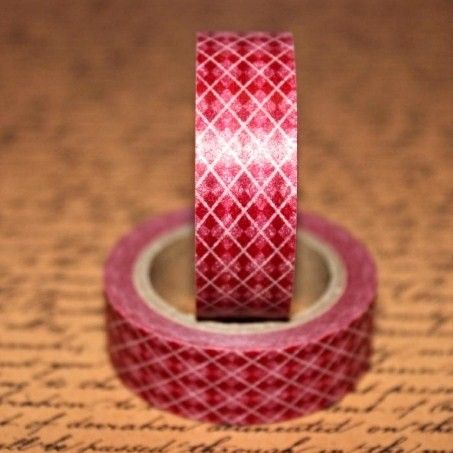 Washi Tape Cranberry Plaid