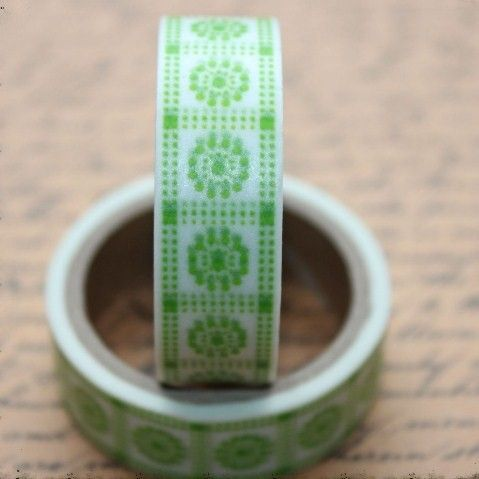 Washi Tape Green Tile