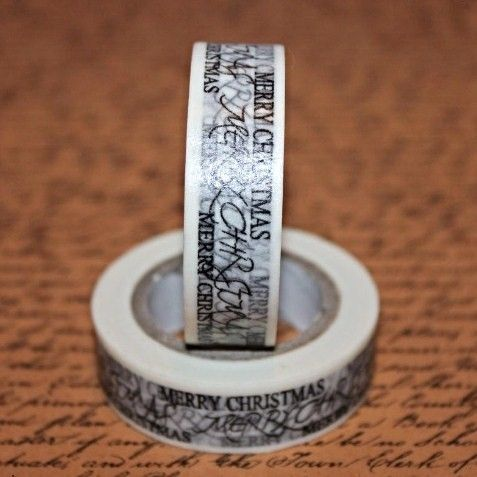 Washi Tape Merry Christmas Black