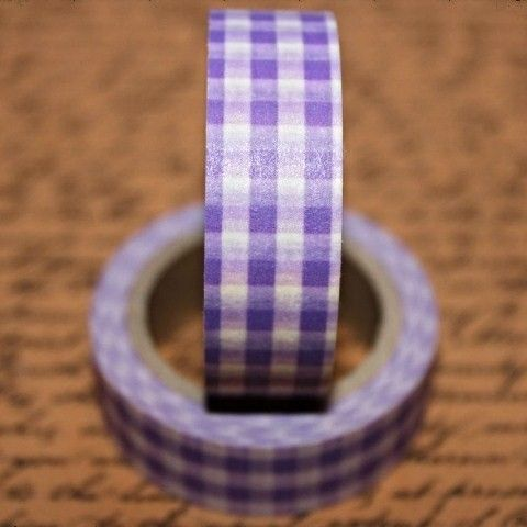 Washi Tape Plum Check