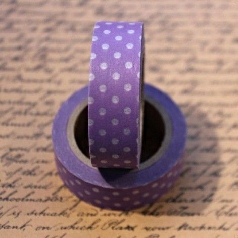 Washi Tape Polka Dot Purple/Clear