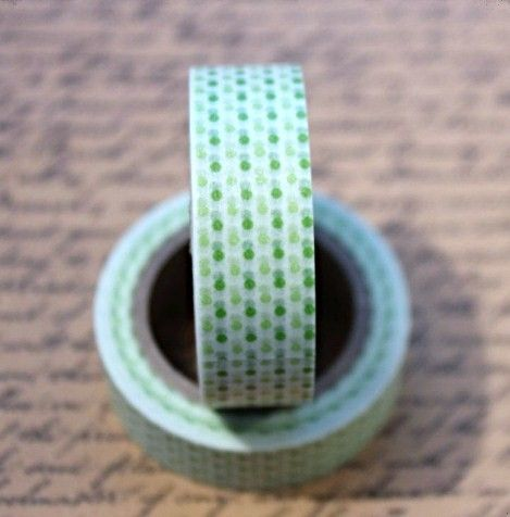 Washi Tape Polka Dot Two - Tone Green