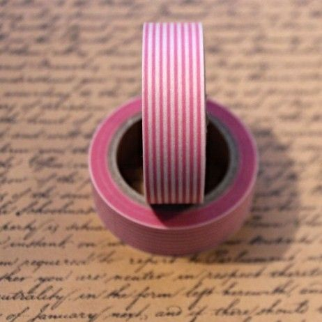 Washi Tape Stripe Pink