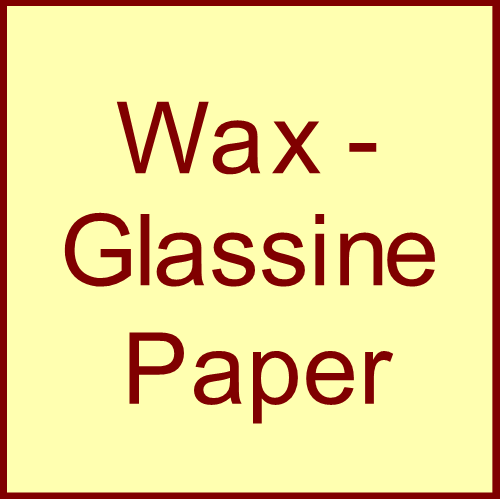 Wax - Glassine Paper