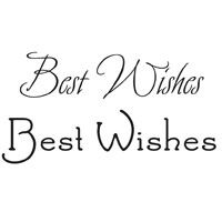 Woodware Clear Magic Singles Best Wishes