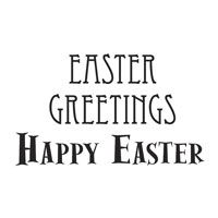 Woodware Clear Magic Singles Easter Greetings/Happy Easter
