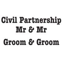 Woodware Clear Magic Singles Groom & Groom