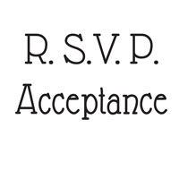 Woodware Clear Magic Singles RSVP/Acceptance
