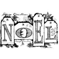Woodware Clear Magic Stamp Noel Tags